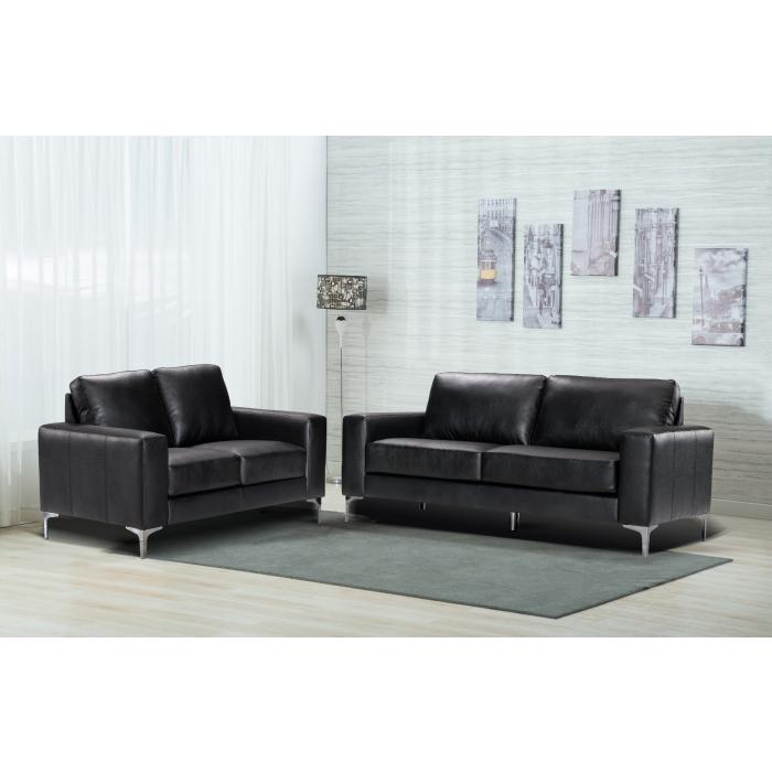 Jackson Grey Leather Modern 3 2 Sofa Set, Sofa Set Photos