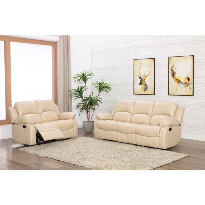 Grosvenor Cream Leather Recliner 3 2, Sofas With Recliners