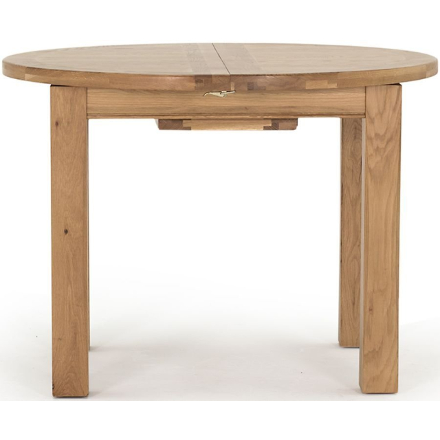 Breeze Oak Round Extending Dining Table