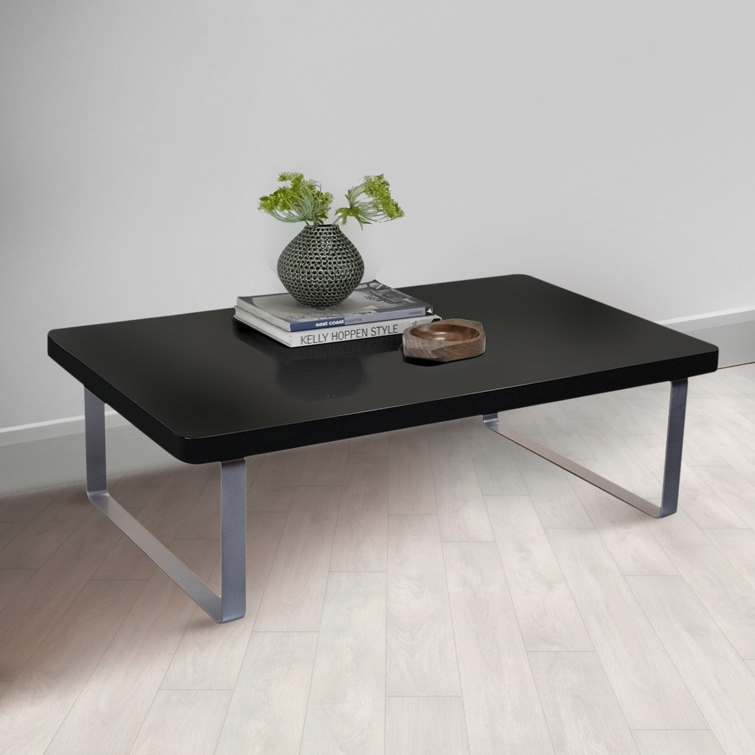 - Accent Wooden Coffee Table In Black